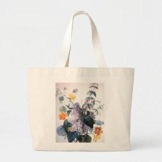 Redouteの薄紫の花束のバッグ ラージトートバッグ