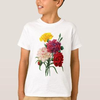 Redoute著カーネーションおよびマリーゴールドの花束 Tシャツ