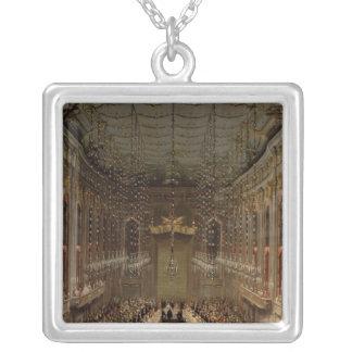 Redoutensaalの宴会、ウィーン1760年 シルバープレートネックレス