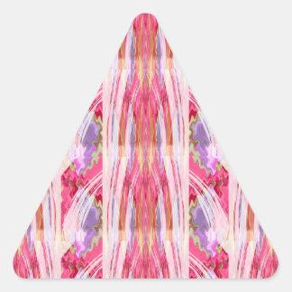 RedRoseの赤いバラの成長nの調和のデザイン 三角形シール