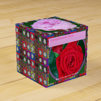 RedROSE n PinkROSE編集可能DIY 2x2の好意箱 フェイバーボックス