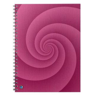 RedWineの螺線形は金属の質のプリントにブラシをかけました ノートブック