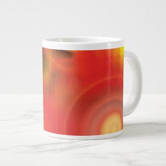 RedYellowの抽象芸術 ジャンボコーヒーマグカップ