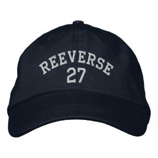 REEVERSE 27海軍帽子 刺繍入りキャップ