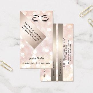 Referral card chic bokeh eyelashes & eyebrows 名刺