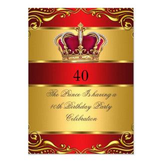 regal Red Gold女王の王子王の王冠の誕生日 11.4 X 15.9 インビテーションカード
