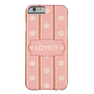 Regimental straipe pink crown pattern barely there iPhone 6 ケース
