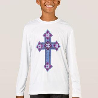 Regium Crucis™の男の子のスポーツTekのLongsleeveのTシャツ Tシャツ