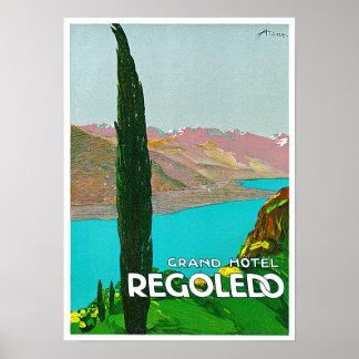 Regoledoイタリアのヴィンテージ旅行 ポスター