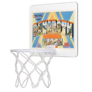 Rehobothのビーチのデラウェア州DE Vintage Travel郵便はがき ミニバスケットボールゴール