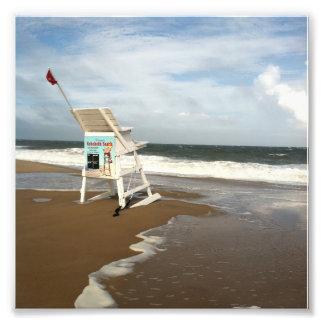 Rehobothのビーチのライフガードの立場 フォトプリント