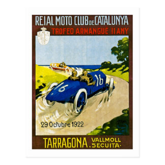 Reial Moto Club de Catalunya Retroのヴィンテージの競争 葉書き