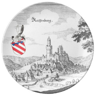 Reiffenbergの磁器皿 磁器プレート