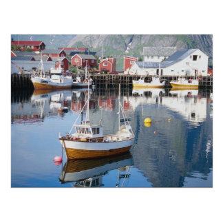 Reineの漁村、Lofoten、ノルウェー ポストカード