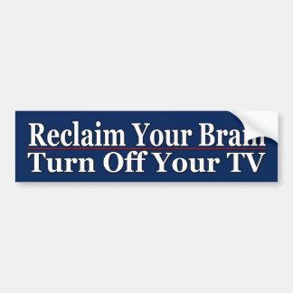 Relaimあなたの頭脳- バンパーステッカー