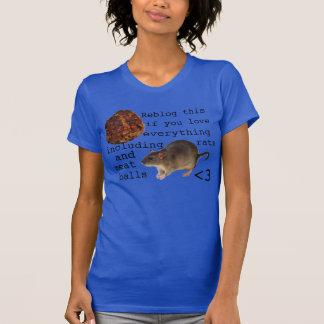 Relateableのラットおよびミートボールのワイシャツ Tシャツ