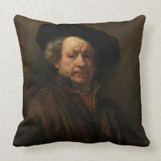 Rembrandt Van Rijnの自画像のファインアート クッション