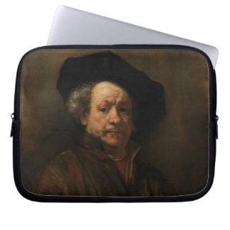 Rembrandt Van Rijnの自画像のファインアート ラップトップスリーブ