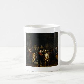 Rembrandt Van Rijn著夜警員を絵を描くこと コーヒーマグカップ