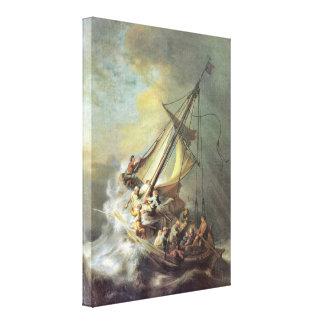 Rembrandt Van Rijn -ガリラヤの海の嵐 キャンバスプリント