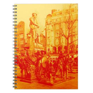 rembrant彫像のアムステルダムのデジタル写真 ノートブック