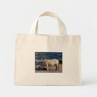remore南デボンのシェトランド諸島子馬の食べ物の海藻 ミニトートバッグ