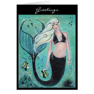 Renee著ファンタジーの芸術の人魚の挨拶状 カード