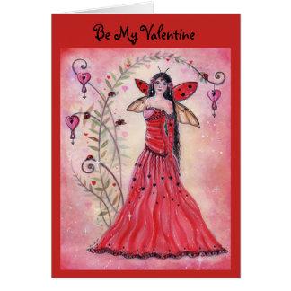 Renee Lavoie著女性愛虫のバレンタインの妖精カード カード