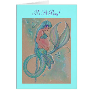 Renee Lavoie著妊娠の人魚の青いカード カード