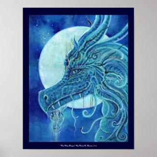 Renee Lavoie著青いドラゴンポスター ポスター