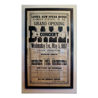 Reproの1897年の凸版印刷の劇場の舷側 ポスター
