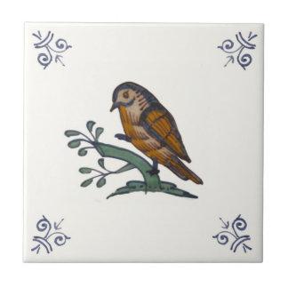Repro 18世紀で多彩なデルフトの鳥のタイル タイル