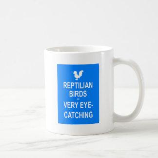 Reptilianの鳥は非常に人目を引きます コーヒーマグカップ