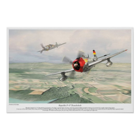 Republic P-47 Thunderbolt ポスター