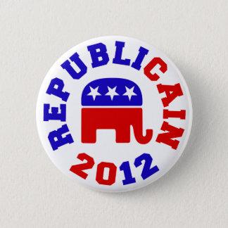 Republicain 2012年のヘルマンカインの選挙ボタン 5.7cm 丸型バッジ