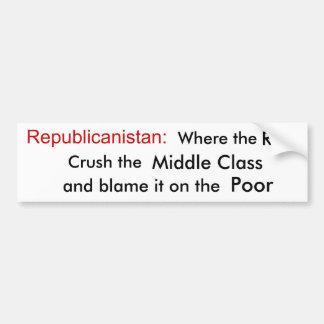Republicanistanへの歓迎 バンパーステッカー