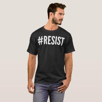 """""""#Resist""""のタイポグラフィのTシャツ Tシャツ"""