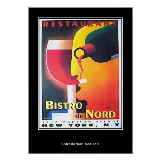 Restaurant Bistro Du Nordニューヨークのアールデコポスター ポスター