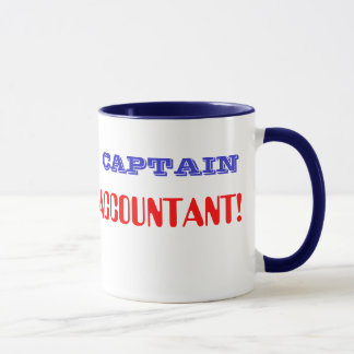 Retro Accountant大尉の英雄CFO CPA マグカップ