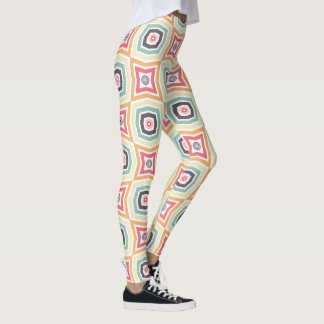 Retro Colorful Pattern Leggings レギンス