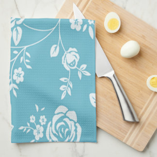 Retro_Maggie-Floral_Maggie Blue* Custom Color_ キッチンタオル