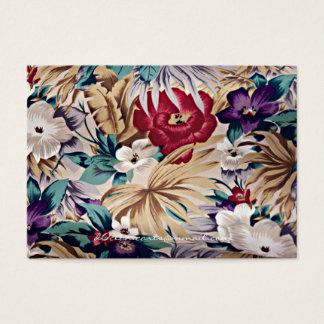 Retro Tropical Flower Pattern 名刺