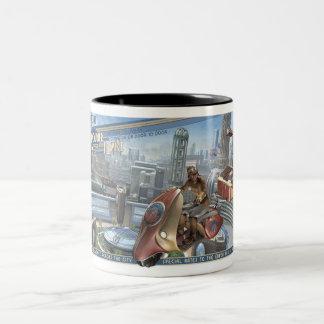Retropolisの空の宅配便のマグ ツートーンマグカップ