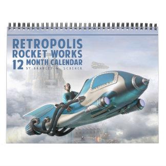 Retropolisロケットはカレンダーを働かせます カレンダー