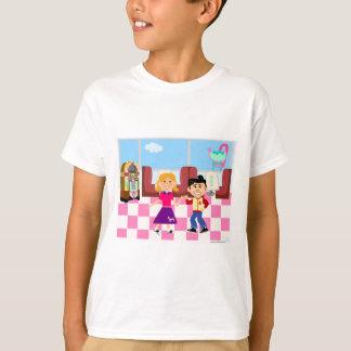 Retrovilleのソックスのホツプのダイナー Tシャツ