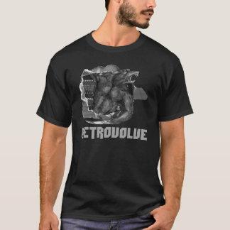 Retrovolveの狼人間のティーの黒 Tシャツ