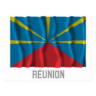 Réunionは名前の旗を振ることを提案しました ポストカード