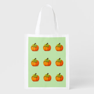 Reusable Halloween Pumpkins Treat Bag エコバッグ