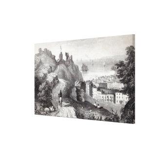 Revd WからのHastingsの城 キャンバスプリント