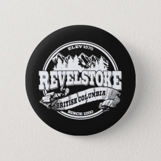 Revelstokeの古い円の黒 5.7cm 丸型バッジ